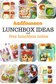 My favorite way to do that is to pack them a special, holiday-themed lunch. Here are some Halloween Lunchbox Ideas and Free Lunchbox Notes