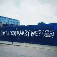 adrianocarolei fb urbanstreetart marry me marryme blu blue Grunge Style, Nepal Art, Art Basel Hong Kong, Graffiti, Sign O' The Times, Fart Humor, Urban Street Art, Art Basel Miami, Paris Art