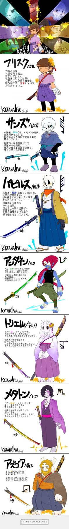 Chara: Nice! Everyone's got a weapon! Kitty: For me, in this AU mines is as long as Sans with a flower-embroidered handle Aurora: I'd love to be in this AU since I have sword training