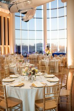 Beautiful reception at the Oklahoma History Center in OKC. (Photo by Candi Coffman Photography.)  // www.kfor.com #wedding #oklahoma