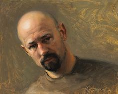Self Portrait, 2007 by Jeffrey T. Larson on Curiator, the world's biggest collaborative art collection. Guy Drawing, Painting & Drawing, Museum Studies, Classical Realism, Oil Portrait, Portrait Paintings, Outdoor Paint, Collaborative Art, Male Figure