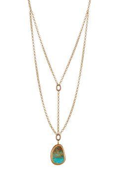 Turquoise Pendant Necklace by mariechavez on @HauteLook