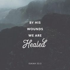 But he was pierced for our rebellion, crushed for our sins. He was beaten so we could be whole. He was whipped so we could be healed. Isaiah 53:5