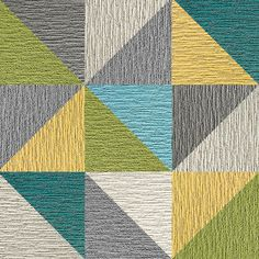 A spectrum of colors and diagonally cut squares create a kaleidoscope design that is sure to dazzle and add pizzazz to any environment. To assemble your rug, just use the FLORdots in the box with your squares. This rug contains cuts. You may receive excess material from the cuts in your order. | Made You Look 8 Triangle Patchwork - Kiwi Masculine Master Bedroom, Carpet Tiles, You Look, Kiwi, Spectrum, Squares, Dreaming Of You, Triangle, Area Rugs
