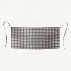 Simple plaid apron.