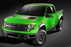 ford raptor lime green