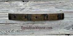 The Old Block House: Wine Barrel Coat Rack