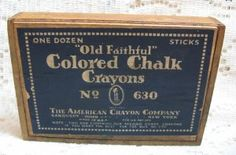 Old Faithful Chalk Crayon Wood Advertising Box @ Vintage Touch $11.00  SOLD