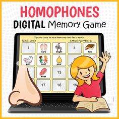 DIGITAL Homophones Memory Game - Homophones Matching Game by Drag Drop Learning