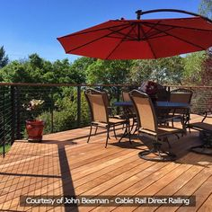 DesignRail Aluminum Railing with Cable Infill