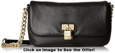 Calvin Klein 3 WZ Pebble Cross Body Bag, Black/Gold, One Size