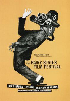 The Rainy States Film Festival Poster, by Modern Dog, Seattle, Washington, 1994