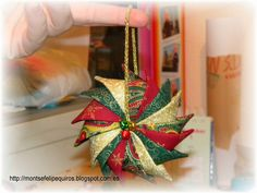 Mi gran descubrimiento: TUTORIAL MOLINILLO  Prairie point ornament