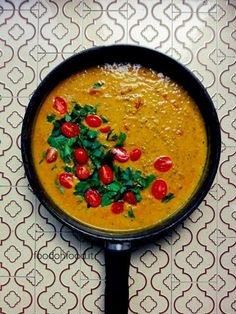 This Indian style curry uses spices like turmeric and ginger, to name a few, to create perfect combination with lentils and coconut milk. Veg Recipes, Wine Recipes, Indian Food Recipes, Asian Recipes, Cooking Recipes, Healthy Recipes, Ethnic Recipes, Vegan Curry, Greens Recipe