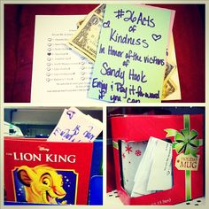 """""""Number Four of #26Acts of Kindness: Stashing ones at the Dollar Store. A little Christmas surprise in honor of you, Olivia!"""""""