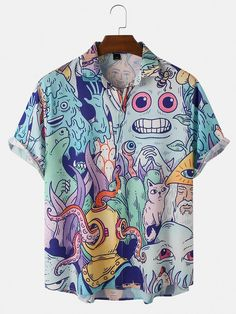 Floral Shirt Outfit, My Outfit, Funky Shirts, Casual Shirts, Cute Comfy Outfits, Cool Outfits, Summer Shirts, Clothes For Sale, Shirt Designs