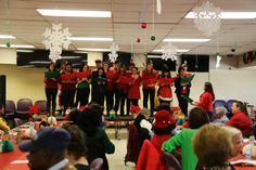 Manassas Campus' Spanish students singing holiday songs in Spanish for the seniors at the Senior Holiday Luncheon! #manassas #MAcampus #student #singing #holiday #NOVAstrong #nvcc #LOVEnova #nova