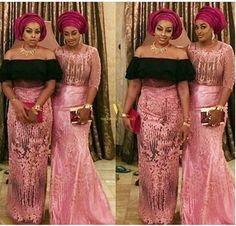 Head Turning And Show Stopping Aso Ebi Styles See How Nigerian Celebs Rock Their For Stephanie Er Olumide Aderinokun S Traditional