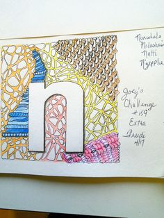 "Joey's Challenge #159 extra small ""n"" using Tangles Narwhal, Nolashrim, Natti and N'ZEPPEL."