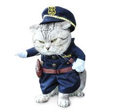 Police Cat Costume