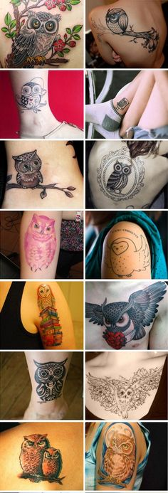 I love owl tattoos! I need to put mine up!