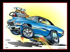 67 Chev 40 by on DeviantArt Cartoon Car Drawing, Cartoon Pics, Cartoon Art, Caricature, Cool Car Drawings, Monster Car, Cars Coloring Pages, Garage Art, Car Posters