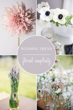 Floral Simplicity. Lake Tahoe wedding flowers