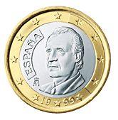 1 Euro coin Es  Ritratto del re Juan Carlos I