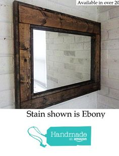 Renewed Décor Herringbone Reclaimed Wood Mirror in 20 stain colors - Large Wall Mirror - Rustic Modern Home - Home Decor - Mirror - Housewares - Woodwork - Frame - Stained Mirror from Renewed Decor & Storage https://smile.amazon.com/dp/B01EXUSFR2/ref=hnd_sw_r_pi_dp_WbsEybDH7GH58 #handmadeatamazon
