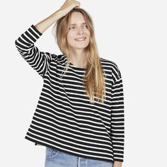 The Boxy Striped Tee | Everlane