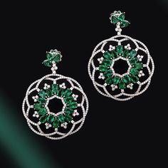 thejewelcollectiveHump day and feeling ready for the weekend?? Well to cheer you up we thought we'd share these magnificent Columbian Emerald and diamond earrings from @maximilionlondon !! we are in lurve (photo: Maximilian London) #thejewelcollective #ma