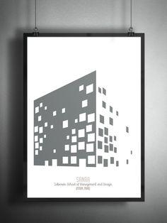 Archiposters Feature Minimalist Representations of Contemporary Architecture,Zollverein School of Management and Design / SANAA, 2006. Image © Francesco Ravasio