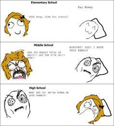 School Mornings rage-comics