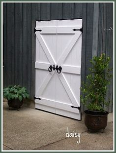 barn doors. Oh man I love this. Can't have it, but wow