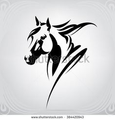 Vector silhouette of a horse's head