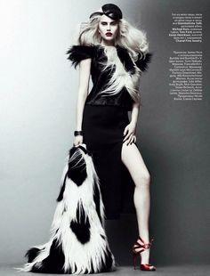 NOIR FAÇADE - The place for fashion editorials. - На острой грани | Alla Kostromichova by Jason Kibbler for Vogue Russia October 2011