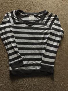 0777f39223f Girls Abercrombie L S Gray Striped Shirt Size L  fashion  clothing  shoes