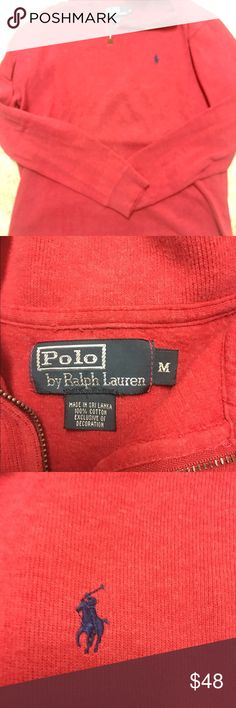Red Polo pullover by Ralph Lauren Red pullover by Ralph Lauren. Super comfy! Really great condition • only worn a couple of times • would make a great gift! Polo by Ralph Lauren Sweaters