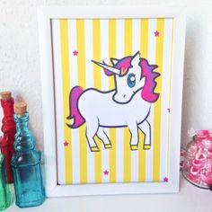 Unicorn Print Wall Art