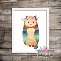 Owl Watercolor Woodland Animals Critter 8x10 Printable Digital Instant Download Baby Nursery Home Decor Wall Art Forest Floral Baby Girl by CottageMoonDesign on Etsy https://www.etsy.com/listing/476873109/owl-watercolor-woodland-animals-critter
