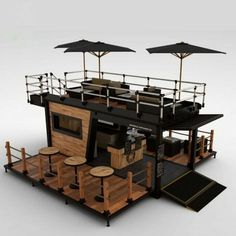 container coffee shop Picture 2 of 12 Container Bar, Container Home Designs, Container Coffee Shop, Shipping Container House Plans, Shipping Container Restaurant, Container Houses, Shipping Containers, Cafe Interior Design, Cafe Design