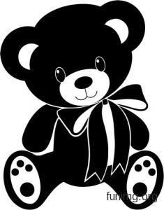 Эскиз изображения игрушечного медвежонка для декора наклейкой или трафаретом Baby Silhouette, Silhouette Design, Clipart Baby, Baby Clip Art, Baby Art, Vinyl Art, Vinyl Decals, Silouette Cameo Projects, Baby Flash Cards
