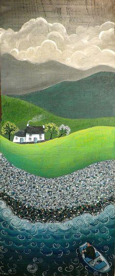 Daliad y dydd | Oil on wood — Huile sur bois — Lliwiau olew … | Flickr