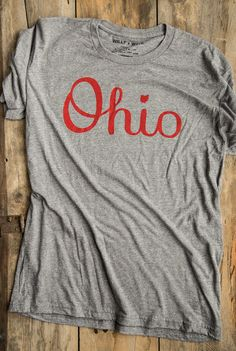 Our Script Ohio apparel is suitable for every situation. In the stadium or in the forest, support the state you love.