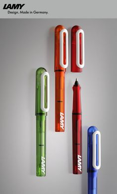 LAMY balloon - Cartridge rollerball pen for young students! With washable ink! Letter Writing, In Writing, Bullet Pen, Pen Collection, Pen Design, Metal Pen, Lettering Styles, Rollerball Pen, Pen Sets