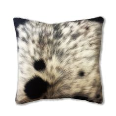 Authentic cowhide pillow decorative pillow, accent pillow, throw pillow - 45x45cm 18x18 inches genuine leather cushion for home decor by CamuDecor on Etsy