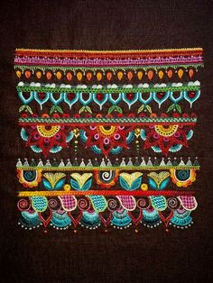 Glazig Marguerite Dourzal Brest Embroidery Motifs, Indian Embroidery, Beaded Embroidery, Cross Stitch Embroidery, Chinese Patterns, Denim Crafts, Embroidery For Beginners, Blackwork, Needlework