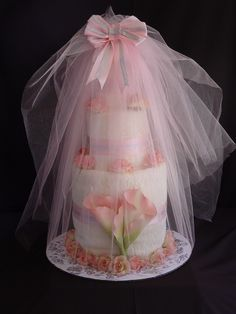 Wedding Towel Cake | Wedding Towel Cake Wrapped - Gift Cakes Galore