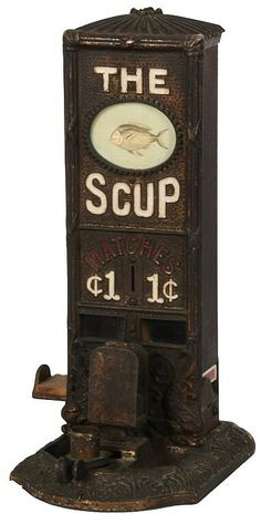 Scup match dispenser & cigar cutter