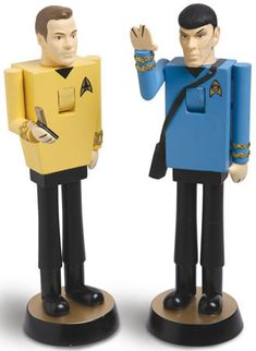Live long and prosper with these nutty Star Trek nutcrackers! Available in both Spock and Capt. Kirk, these 11 inch tall nutcrackers will crack your nuts Star Trek Merchandise, Nerd Love, My Love, Star Trek Captains, Nutcracker Christmas, Geek Chic, Film, All Star, Pop Culture